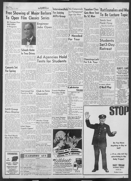 Daily Trojan, Vol. 43, No. 71, February 08, 1952