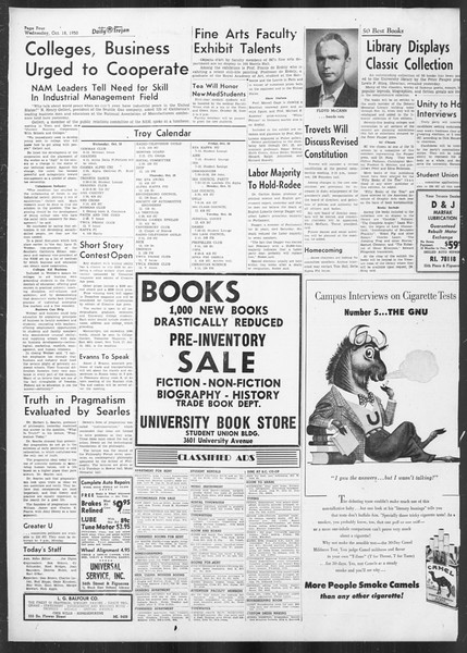 Daily Trojan, Vol. 42, No. 23, October 18, 1950