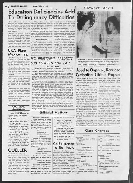 Summer Trojan, Vol. 12, No. 4, July 06, 1962