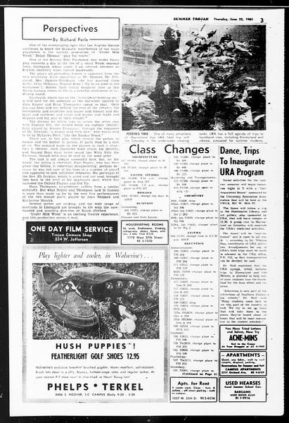 Summer Trojan, Vol. 11, No. 1, June 22, 1961
