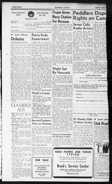 Summer News, Vol. 1, No. 14, July 26, 1946