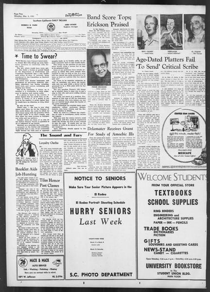 Daily Trojan, Vol. 42, No. 84, March 05, 1951