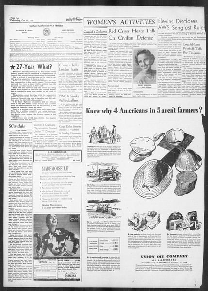 Daily Trojan, Vol. 42, No. 18, October 11, 1950