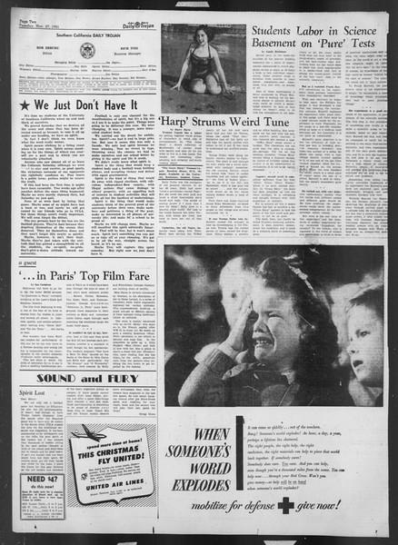 Daily Trojan, Vol. 43, No. 49, November 27, 1951