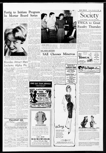 Daily Trojan, Vol. 52, No. 36, November 08, 1960