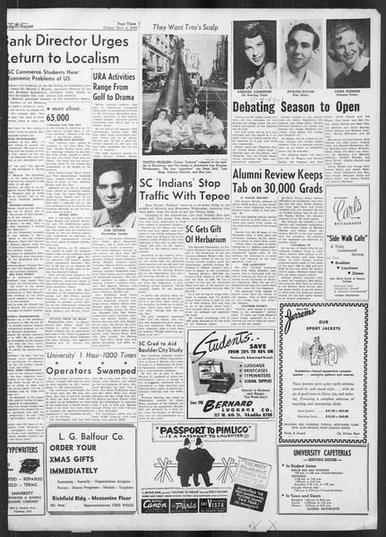 Daily Trojan, Vol. 41, No. 40, November 04, 1949