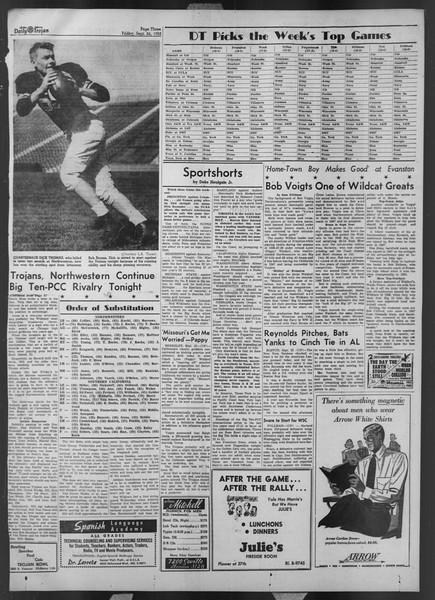 Daily Trojan, Vol. 44, No. 10, September 26, 1952