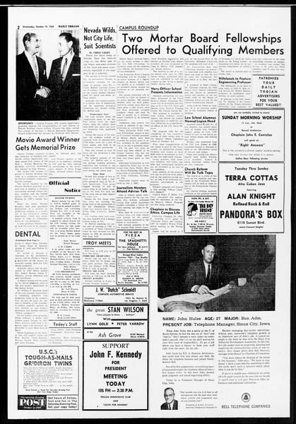 Daily Trojan, Vol. 52, No. 23, October 19, 1960