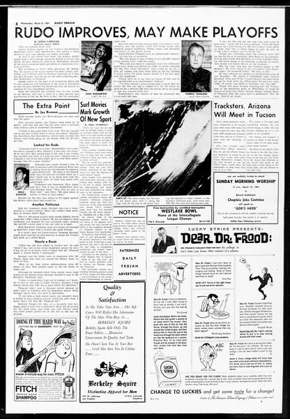 Daily Trojan, Vol. 52, No. 86, March 08, 1961