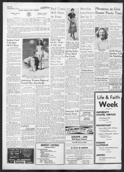 Daily Trojan, Vol. 41, No. 107, March 31, 1950