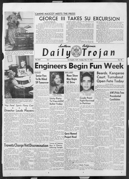 Daily Trojan, Vol. 44, No. 96, March 17, 1953