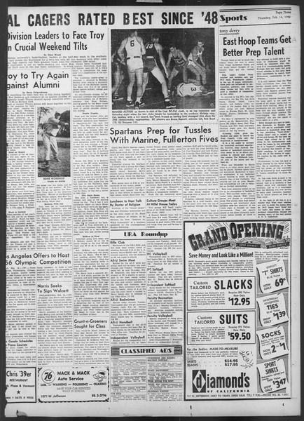 Daily Trojan, Vol. 43, No. 75, February 14, 1952