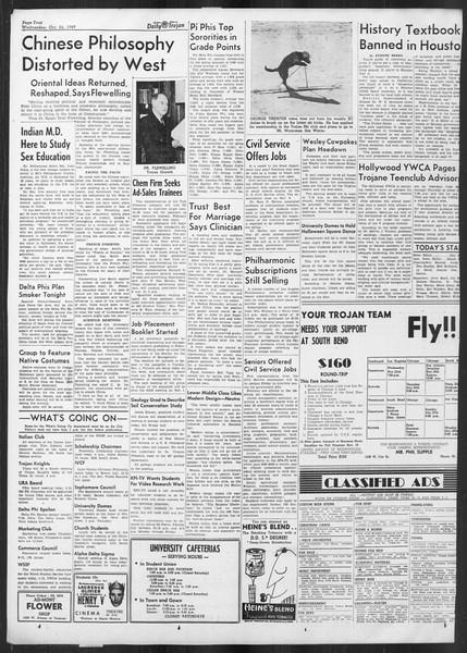 Daily Trojan, Vol. 41, No. 33, October 26, 1949