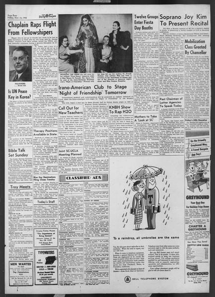 Daily Trojan, Vol. 44, No. 44, November 14, 1952