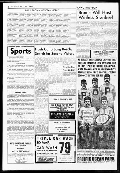 Daily Trojan, Vol. 52, No. 25, October 21, 1960
