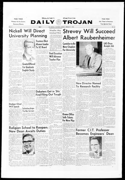 Daily Trojan, Vol. 51, No. 60, February 09, 1960