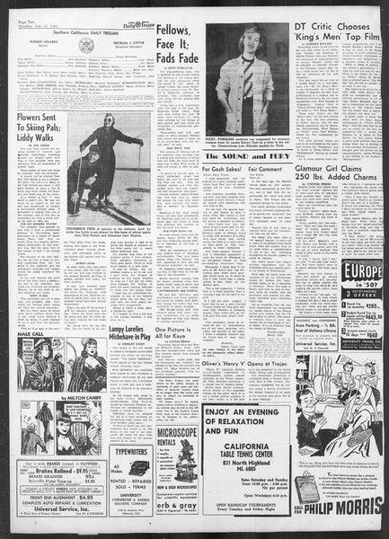 Daily Trojan, Vol. 41, No. 74, February 13, 1950