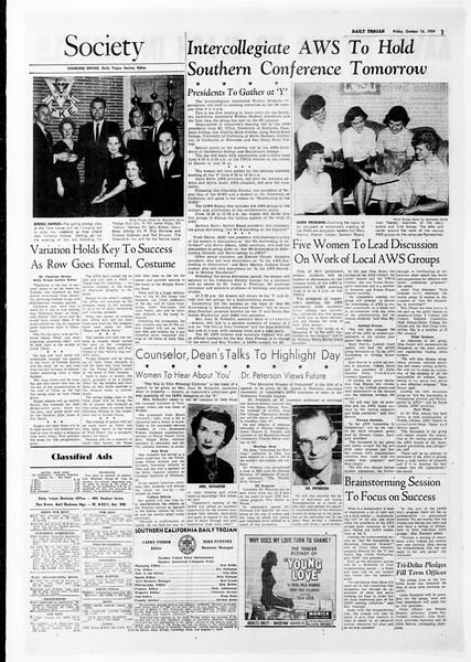 Daily Trojan, Vol. 51, No. 19, October 16, 1959