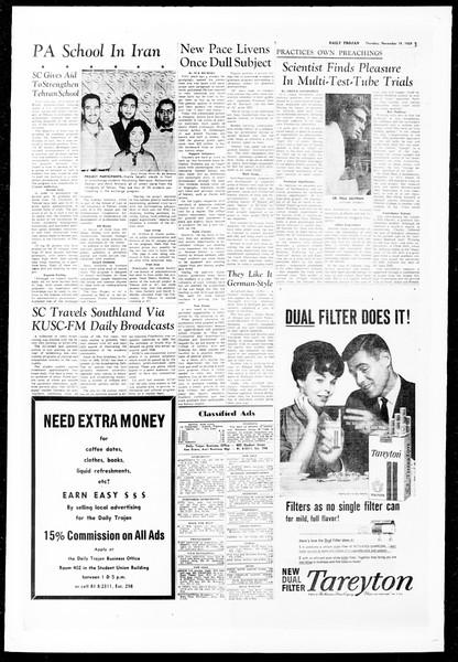 Daily Trojan, Vol. 51, No. 40, November 19, 1959