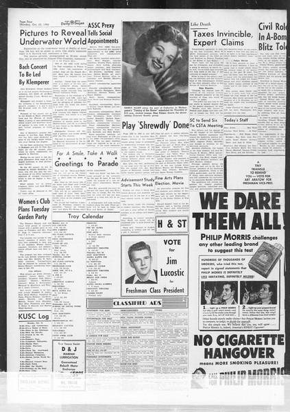 Daily Trojan, Vol. 42, No. 26, October 23, 1950