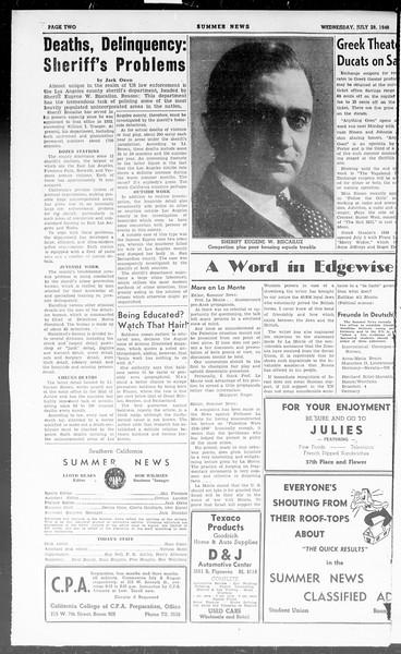 Summer News, Vol. 3, No. 16, July 28, 1948