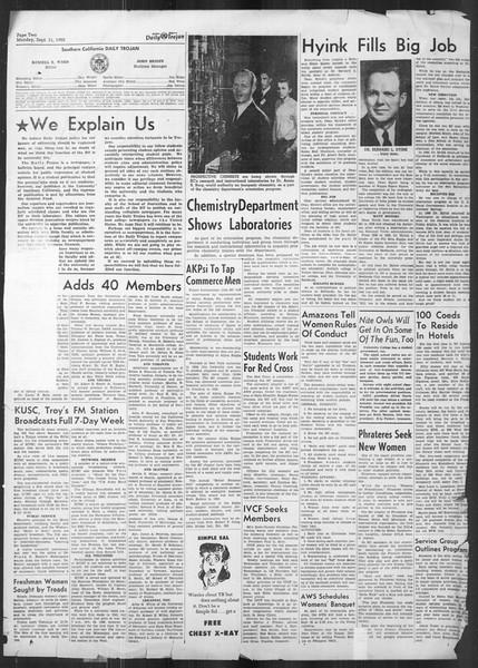 Daily Trojan, Vol. 42, No. 1, September 11, 1950