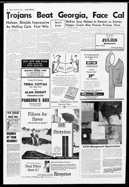 Daily Trojan, Vol. 52, No. 16, October 10, 1960