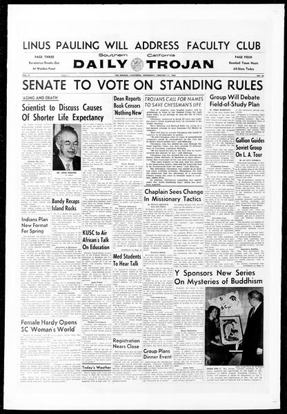 Daily Trojan, Vol. 51, No. 66, February 17, 1960