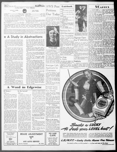 Daily Trojan, Vol. 40, No. 103, March 22, 1949
