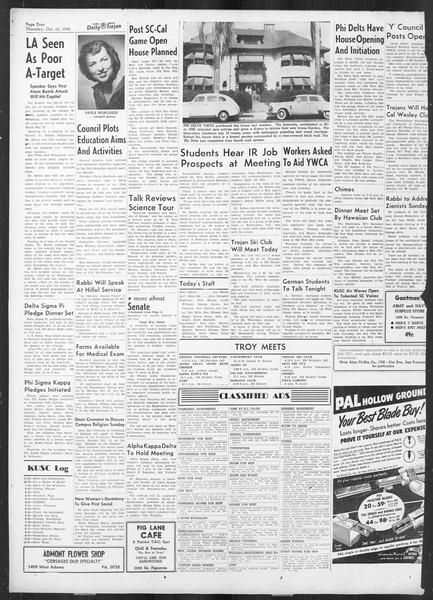 Daily Trojan, Vol. 42, No. 19, October 12, 1950