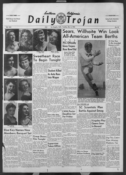 Daily Trojan, Vol. 44, No. 54, December 02, 1952