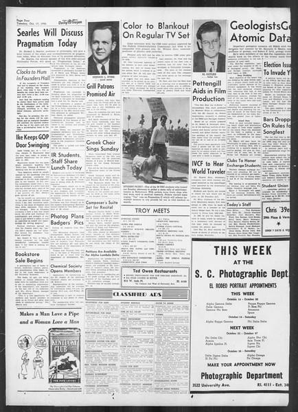 Daily Trojan, Vol. 42, No. 22, October 17, 1950