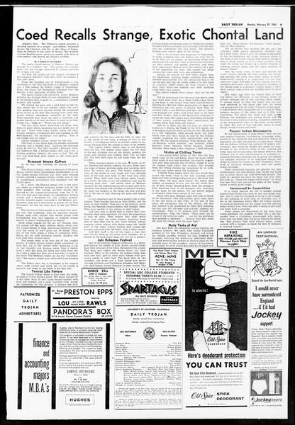Daily Trojan, Vol. 52, No. 79, February 27, 1961