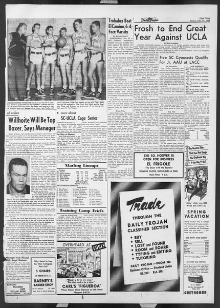 Daily Trojan, Vol. 44, No. 84, February 27, 1953