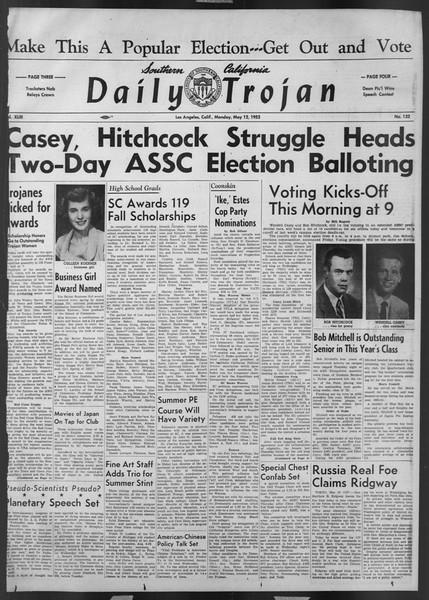 Daily Trojan, Vol. 43, No. 132, May 12, 1952