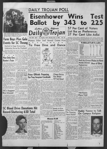 Daily Trojan, Vol. 44, No. 36, November 03, 1952