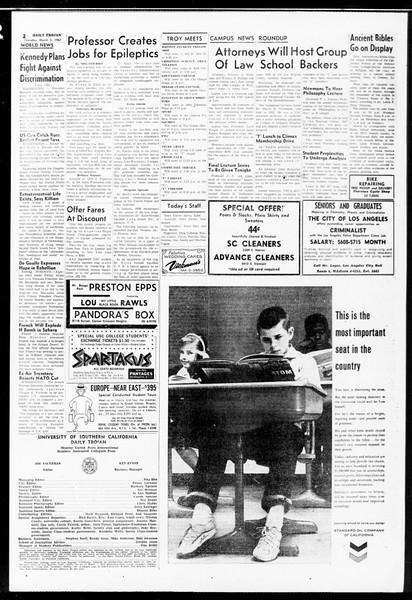 Daily Trojan, Vol. 52, No. 82, March 02, 1961