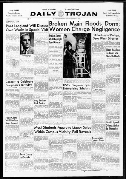 Daily Trojan, Vol. 52, No. 41, November 14, 1960