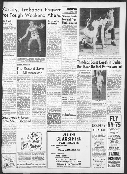 Daily Trojan, Vol. 41, No. 75, February 14, 1950