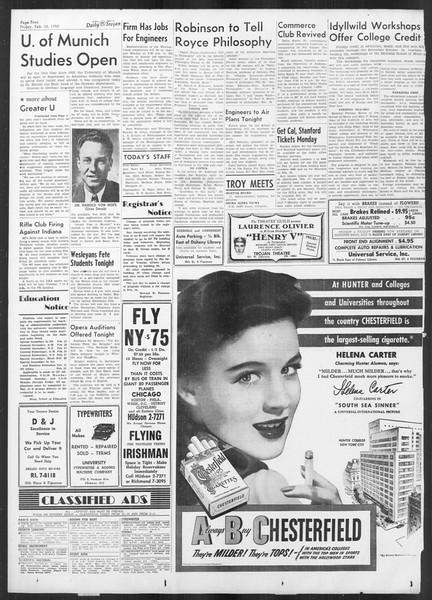 Daily Trojan, Vol. 41, No. 73, February 10, 1950