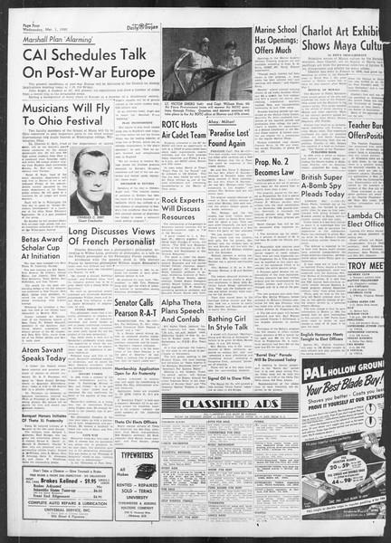 Daily Trojan, Vol. 41, No. 85, March 01, 1950