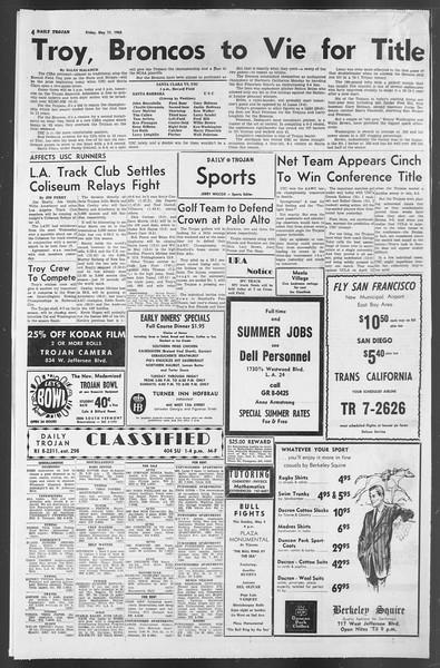 Daily Trojan, Vol. 54, No. 120, May 17, 1963
