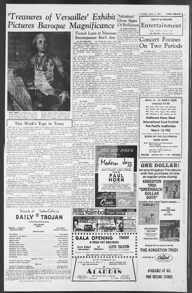 Daily Trojan, Vol. 54, No. 81, March 14, 1963