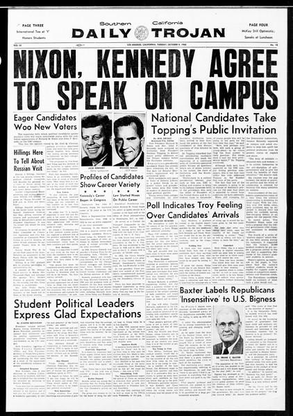 Daily Trojan, Vol. 52, No. 12, October 04, 1960