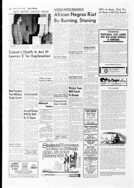 Daily Trojan, Vol. 51, No. 96, March 29, 1960