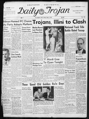Daily Trojan, Vol. 38, No. 126, May 02, 1947