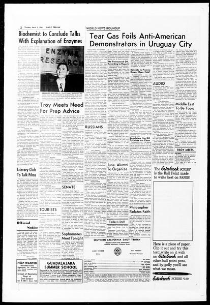 Daily Trojan, Vol. 51, No. 77, March 03, 1960