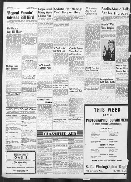 Daily Trojan, Vol. 41, No. 42, November 08, 1949