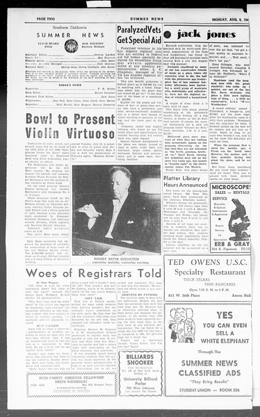 Summer News, Vol. 3, No. 20, August 09, 1948