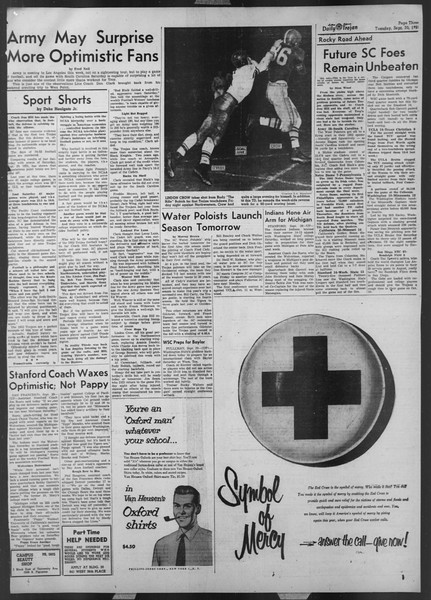Daily Trojan, Vol. 44, No. 12, September 30, 1952